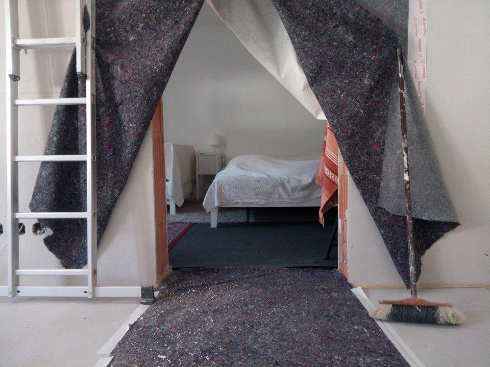 schlafzimmer baustelle baustellenleben